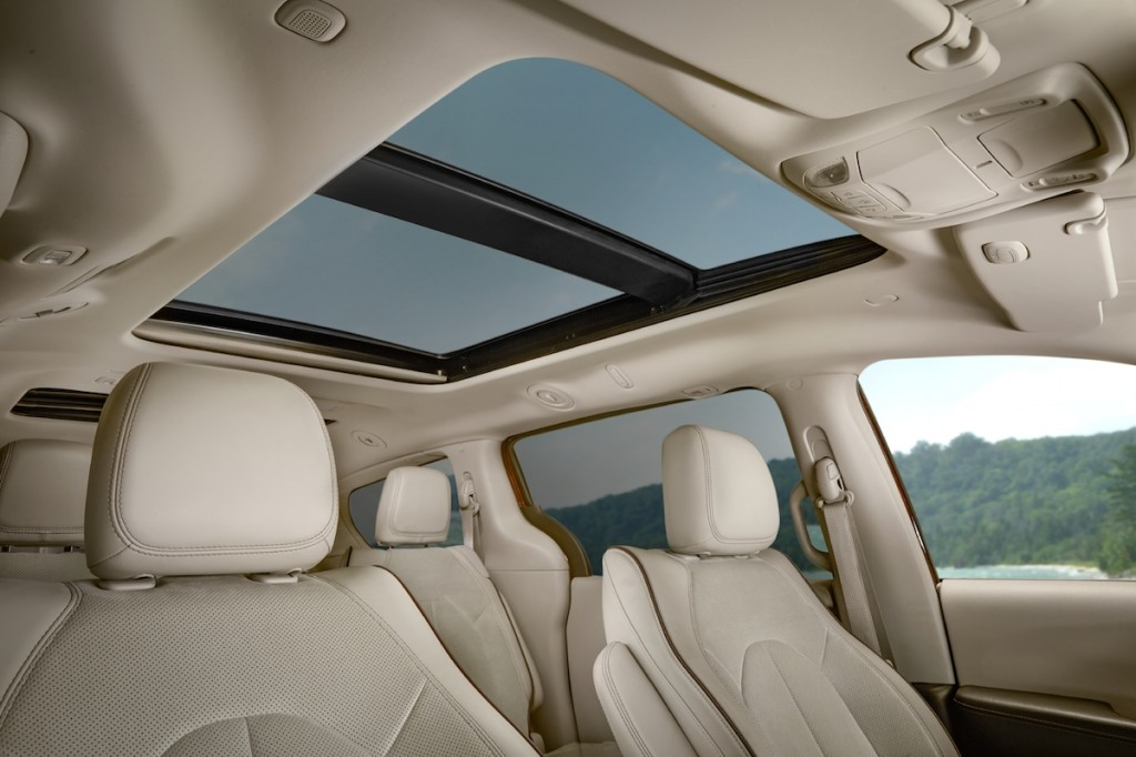 chrysler pacifica sunroof