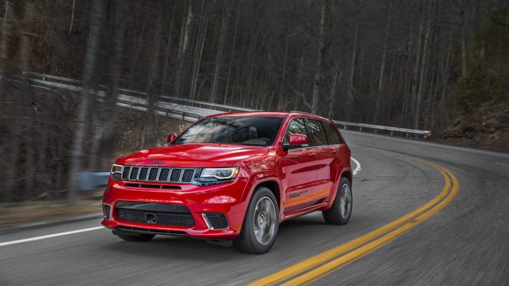 most powerful suv is the jeep grand cherokee trackhawk. Black Bedroom Furniture Sets. Home Design Ideas