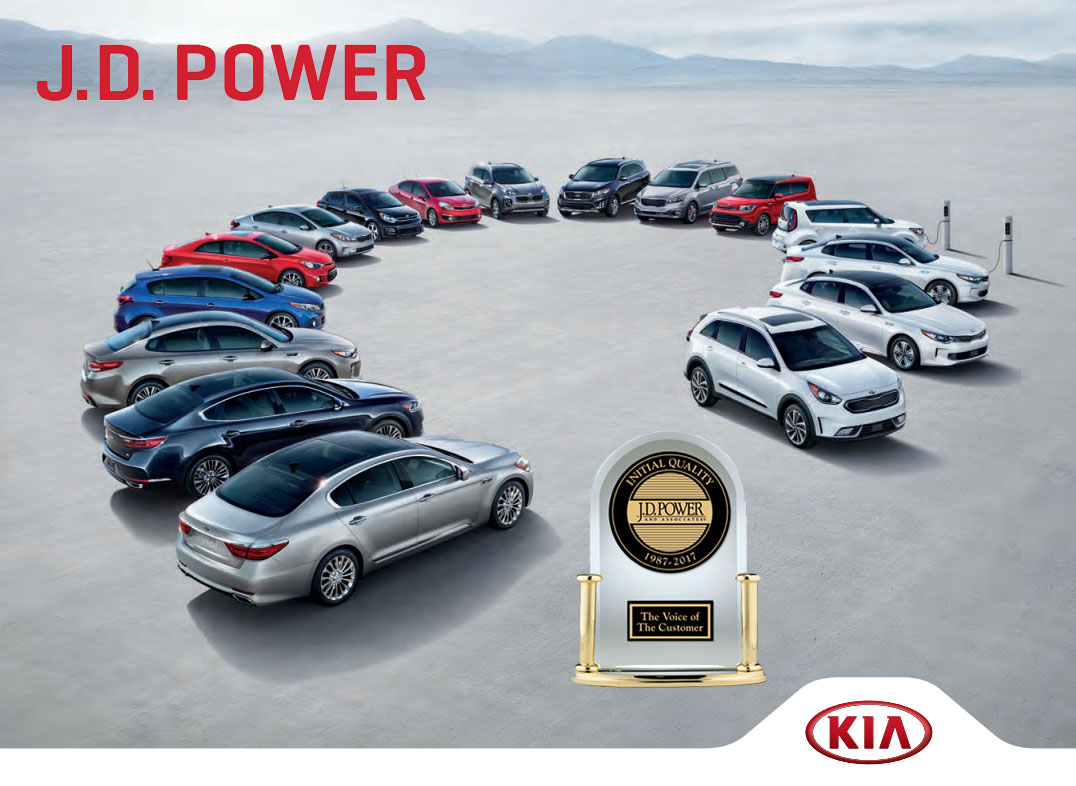 kia earns top spot in j d power initial quality study for second year in a row. Black Bedroom Furniture Sets. Home Design Ideas
